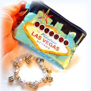 Cute Vegas Purse with Stretchy Dice Bracelet
